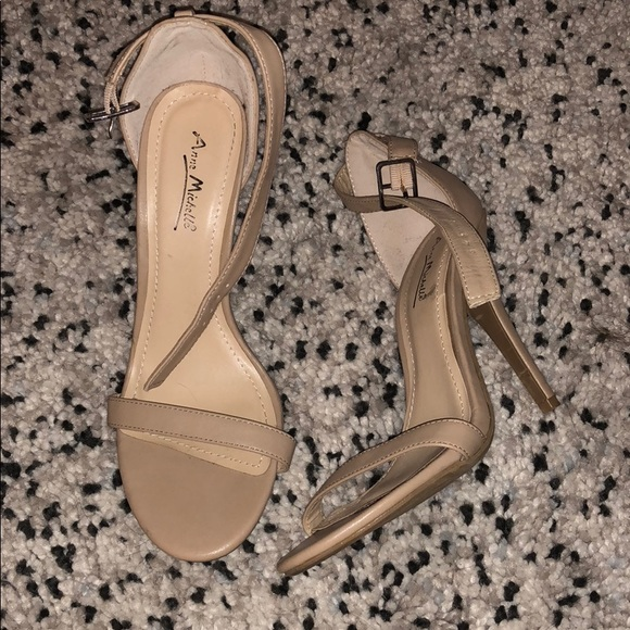 Anne Michelle Nude Strappy Ankle Sandal